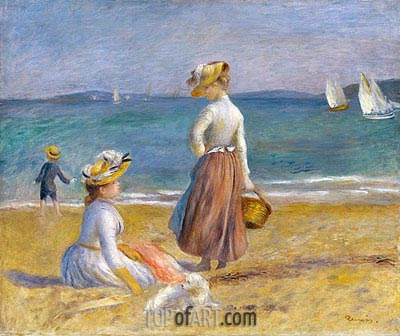 Figures on the Beach, 1890 | Renoir | Painting Reproduction