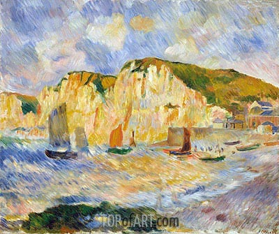 Sea and Cliffs, c.1885 | Renoir| Painting Reproduction