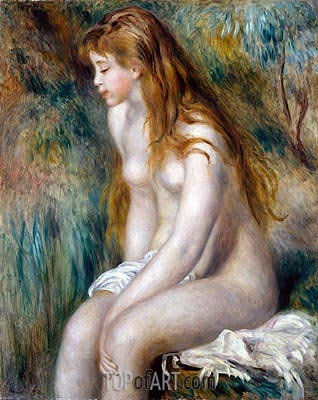 Young Girl Bathing, 1892 | Renoir| Gemälde Reproduktion