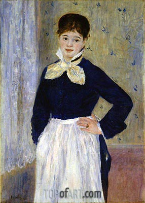 A Waitress at Duval's Restaurant, c.1875 | Renoir| Painting Reproduction