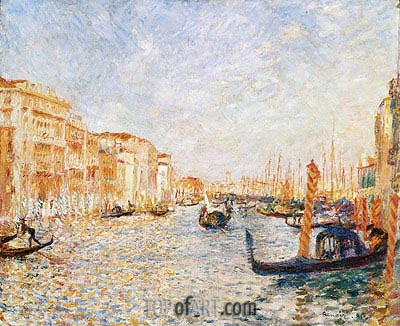 Grand Canal, Venice, 1881 | Renoir| Painting Reproduction