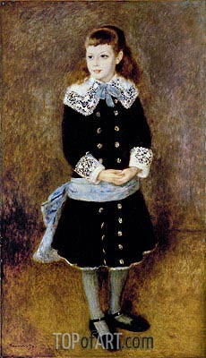 Girl with Blue Sash, 1879 | Renoir| Painting Reproduction