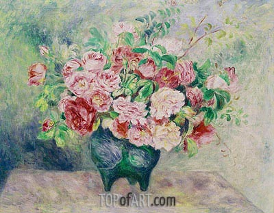 Bouquet of Flowers, c.1880 | Renoir | Painting Reproduction