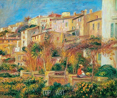 Terrace at Cagnes, 1905 | Renoir| Painting Reproduction
