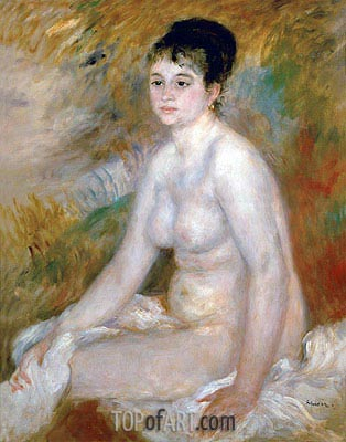 Bather (After the Bath), 1876 | Renoir| Painting Reproduction