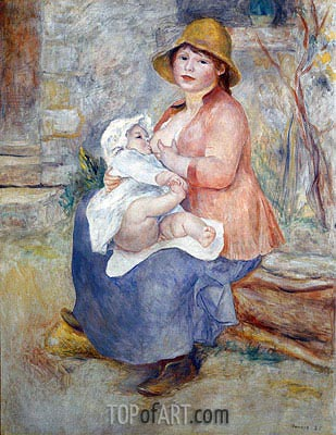 Madame Renoir and Son Pierre (Maternity), 1885 | Renoir| Gemälde Reproduktion