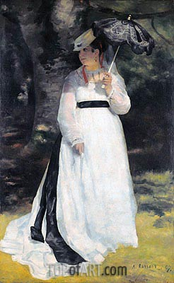 Lise - Woman with Parasol, 1867 | Renoir| Painting Reproduction
