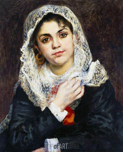 Lise in a White Shawl, 1872 | Renoir | Painting Reproduction