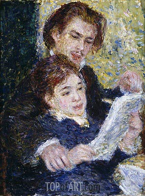 Renoir | In the Studio (Georges Riviere and Marguerite Legrand), c.1876/77
