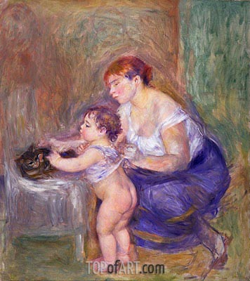Mother and Child, c.1895 | Renoir| Gemälde Reproduktion