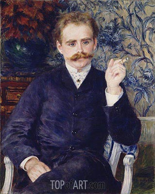 Albert Cahen d'Anvers, 1881 | Renoir | Painting Reproduction
