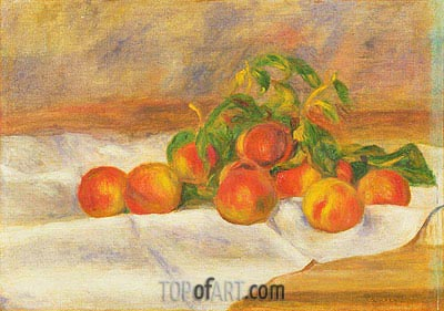 Peaches, 1895 | Renoir| Painting Reproduction