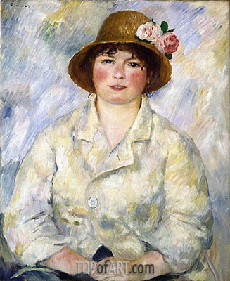 Portrait of Madame Renoir, c.1885 | Renoir| Painting Reproduction