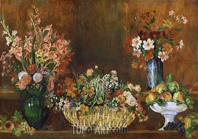 Still Life with Flowers and Fruit, c.1890 | Renoir | Painting Reproduction