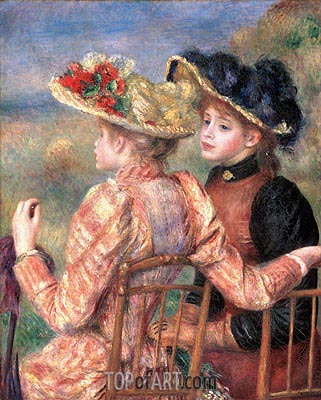 Two Girls, c.1892 | Renoir | Painting Reproduction