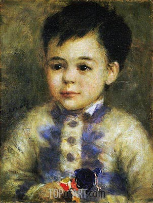 Boy with a Toy Soldier (Portrait of Jean de La Pommeraye), c.1875 | Renoir | Painting Reproduction