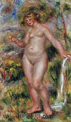 Bather, c.1917 | Renoir| Painting Reproduction