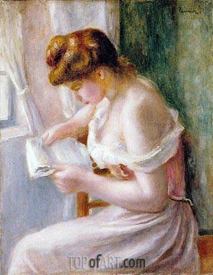 Renoir | A Girl Reading, 1891