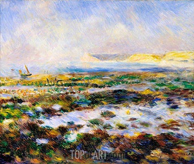 Guernsey Seascape, 1883 | Renoir | Painting Reproduction