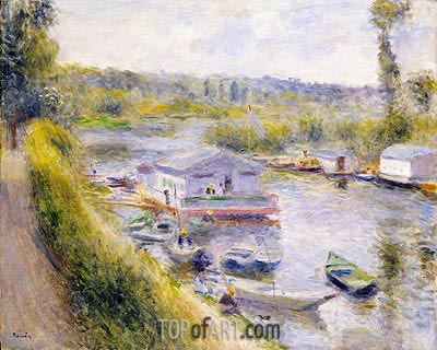 Le Lavoir, Bas-Meudon, 1875 | Renoir| Painting Reproduction
