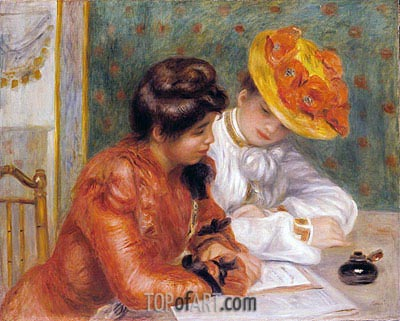 The Letter, c.1895/00 | Renoir| Painting Reproduction