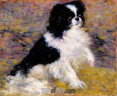 Tama, the Japanese Dog, c.1876 | Renoir | Painting Reproduction