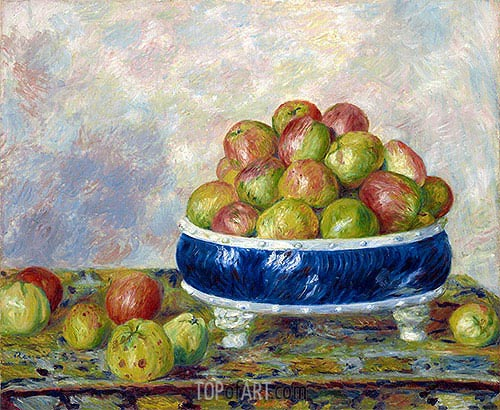 Apples in a Dish, 1883 | Renoir | Painting Reproduction