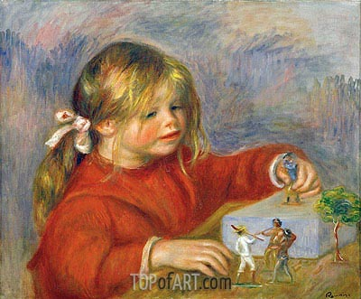 Claude Renoir at Play, 1905 | Renoir| Painting Reproduction