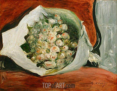 Bouquet in a Theatre Box, c.1878/80 | Renoir| Painting Reproduction
