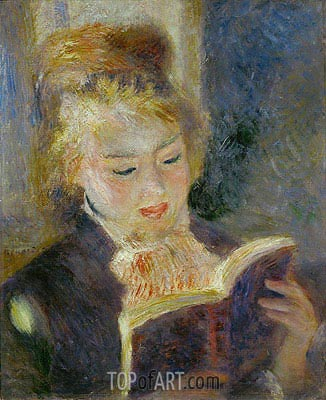 Girl Reading, 1874 | Renoir| Gemälde Reproduktion