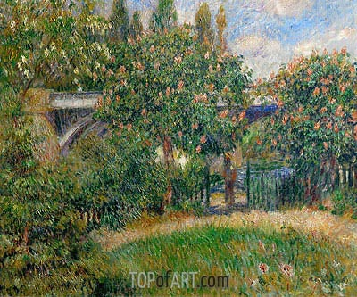Railway Bridge at Chatou, 1881 | Renoir | Painting Reproduction