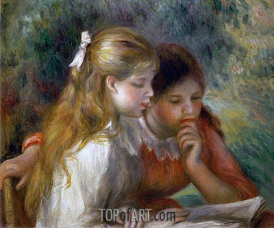 The Reading, c.1890/95 | Renoir| Painting Reproduction