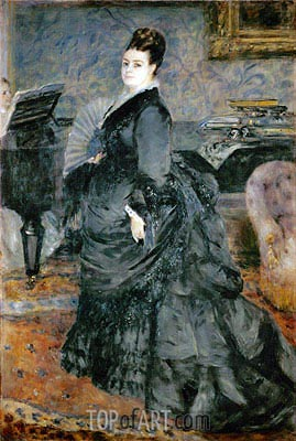 Portrait of a Lady (Mme Georges Hartmann), 1874 | Renoir| Painting Reproduction