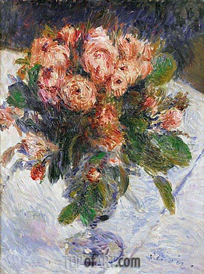 Moss-Roses, c.1890 | Renoir | Painting Reproduction