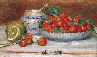 Still Life with Strawberries, 1905 | Renoir| Gemälde Reproduktion