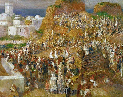Arab Festival (The Mosque Arab Festival), 1881 | Renoir | Gemälde Reproduktion