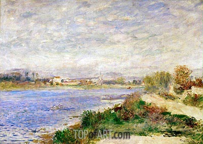 The Seine River near Argenteuil, 1873 | Renoir| Gemälde Reproduktion