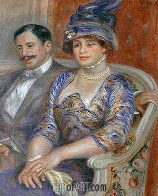 Monsieur et Madame Bernheim de Villers, 1910 | Renoir | Painting Reproduction