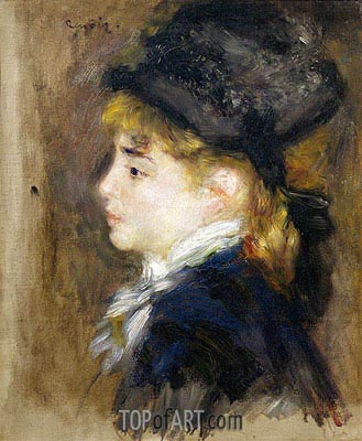 Portrait of Margot, c.1876/78 | Renoir | Painting Reproduction