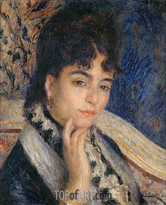 Portrait of Madame Alphonse Daudet, 1876 | Renoir | Painting Reproduction