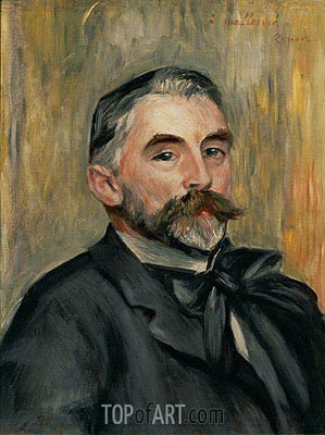 Portrait of Stephane Mallarme, 1892 | Renoir | Painting Reproduction