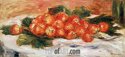 Strawberries on a White Tablecloth, undated | Renoir| Gemälde Reproduktion