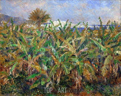 Banana Plantation, 1881 | Renoir | Painting Reproduction