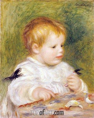 Jacques Fray as a Baby, 1904 | Renoir| Painting Reproduction