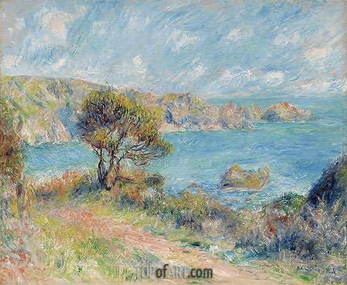 View at Guernsey, 1883 | Renoir | Gemälde Reproduktion