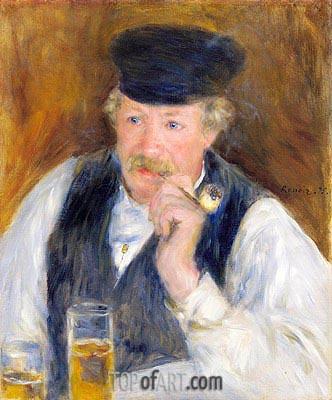 Monsieur Fournaise (Man with a Pipe), 1875 | Renoir | Painting Reproduction