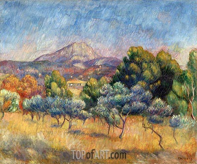 Sainte-Victoire Mountain, c.1888/89 | Renoir | Painting Reproduction