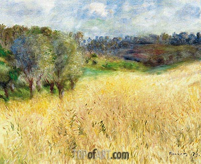 Wheatfield, 1879 | Renoir | Painting Reproduction