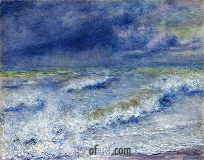 Seascape (The Wave), 1879 | Renoir| Painting Reproduction