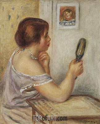 Gabrielle Holding a Mirror, undated | Renoir| Painting Reproduction